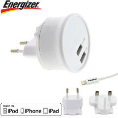 Energizer iOS Wall Charger Ultimate Dual USB 3.1A - EU and UK adapters