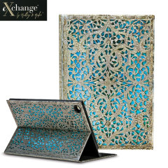 eXchange Maya Blue iPad Air 2 Cover Case - Blue / Grey