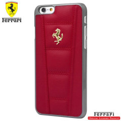 Ferrari 458 Genuine Leather iPhone 6S / 6 Hard Case - Red
