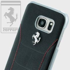 Ferrari 488 Genuine Leather Samsung Galaxy S7 Hard Case - Black
