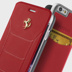Ferrari 488 Gold Collection Booktype iPhone 6S / 6 Case - Red