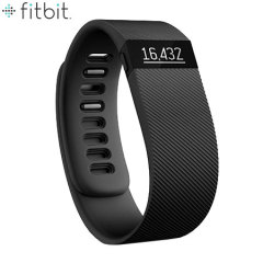 Fitbit Charge Wireless Fitness Tracking Wristband - Black - Large
