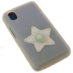 Flashing Star Silicone Case for LG KP500 Cookie - White