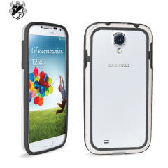 FlexiFrame Samsung Galaxy S4 Bumper Case - Black / Clear