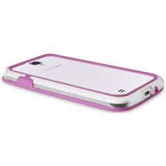 FlexiFrame Samsung Galaxy S4 Bumper Case - Pink / Clear