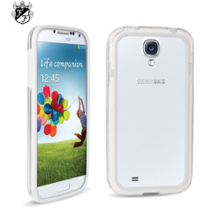 FlexiFrame Samsung Galaxy S4 Bumper Case - White / Clear