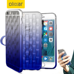 FlexiLoop iPhone 6S Plus Gel Case with Finger Holder - Blue Fade