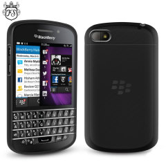 FlexiShield Case for BlackBerry Q10 - Smoke Black