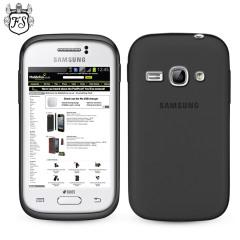 FlexiShield Case for Samsung Galaxy Fame - Smoke Black