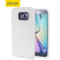 FlexiShield Dot Samsung Galaxy S6 Case - White
