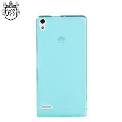 FlexiShield Huawei Ascend P6 Case - Light Blue