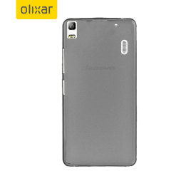 FlexiShield Lenovo A7000 Gel Case - Smoke Black