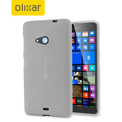 FlexiShield Microsoft Lumia 535 Case - Frost White