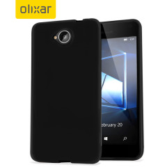 FlexiShield Microsoft Lumia 650 Gel Case - Solid Black