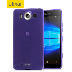 FlexiShield Microsoft Lumia 950 Gel Case - Purple