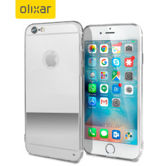 FlexiShield Mirror iPhone 6S / 6 Gel Case - Silver