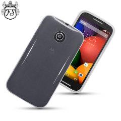 FlexiShield Motorola Moto E Case - Frost White