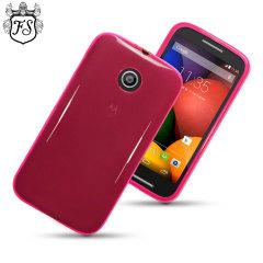 FlexiShield Motorola Moto E Case - Hot Pink