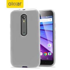 FlexiShield Motorola Moto G 3rd Gen Gel Case - Frost White
