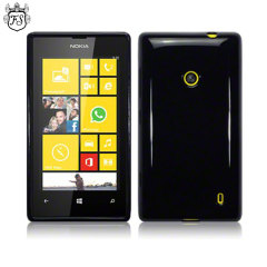 FlexiShield Nokia Lumia 520 / 525 Skin Case - Black