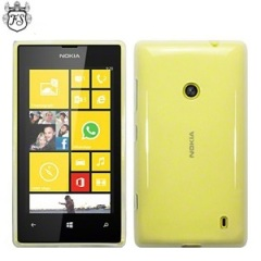 FlexiShield Nokia Lumia 525 / 520 Gel Case - Clear