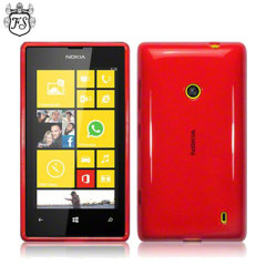 FlexiShield Nokia Lumia 525 / 520 Gel Case - Red