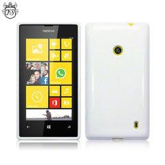 FlexiShield Nokia Lumia 525 / 520 Gel Case - White
