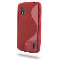 Flexishield S-Line Case for Google Nexus 4 - Red