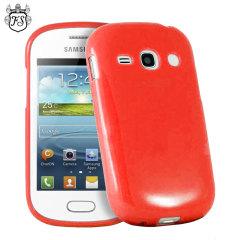 FlexiShield Samsung Galaxy Fame Gel Case - Red