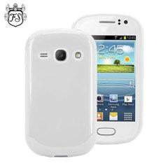 FlexiShield Samsung Galaxy Fame Gel Case - White