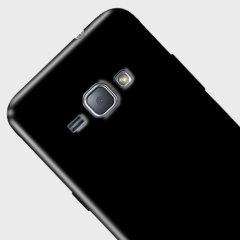 FlexiShield Samsung Galaxy J1 2016 Gel Case - Solid Black