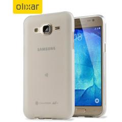 FlexiShield Samsung Galaxy J5 Gel Case - Frost White