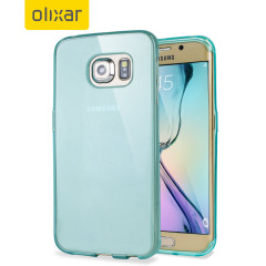 FlexiShield Samsung Galaxy S6 Edge Gel Case - Light Blue