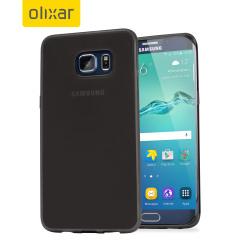 FlexiShield Samsung Galaxy S6 Edge Plus Gel Case - Smoke Black