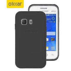 FlexiShield Samsung Galaxy Young 2 Gel Case - Solid Black
