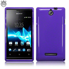 Flexishield Sony Xperia E Case - Purple