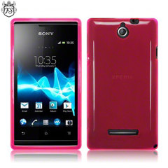 Flexishield Sony Xperia E Case - Translucent Pink