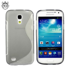 FlexiShield Wave Samsung Galaxy S4 Mini Gel Case - Smoke Black