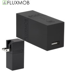 Fluxmob Bolt Stealth 3000mAh Portable Battery & Wall Charger - Black