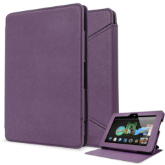 Folio Leather-Style Stand Case for Kindle Fire HDX 7 - Purple