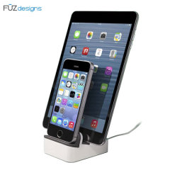 FUZdesigns EverDock Duo Universal Desk Charging Station - Silver