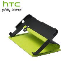 Genuine HTC One 2013 Double Dip Flip Case - HC V841 - Black / Green