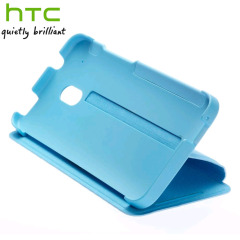 Genuine HTC One Mini Double Dip Flip Case - HC V851 - Light Blue