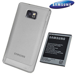 Genuine Samsung Extended Battery Kit for Galaxy S2 - 2000mAh - White - EB-K1A2EWEG