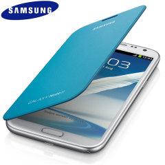 Genuine Samsung Galaxy Note 2 Flip Cover - Blue - EFC-1J9FBEGSTD