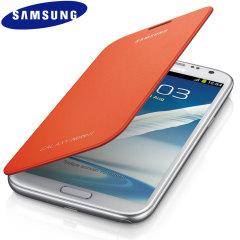 Genuine Samsung Galaxy Note 2 Flip Cover - Orange - EFC-1J9FOEGSTD