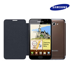 Genuine Samsung Galaxy Note Flip Cover - Brown - EFC-1E1CDEC