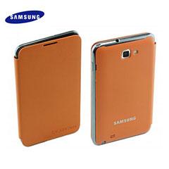 Genuine Samsung Galaxy Note Flip Cover - Orange - EFC-1E1COECSTD