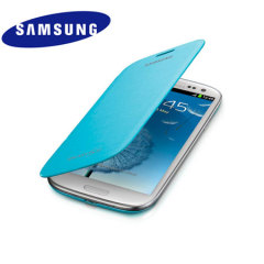 Genuine Samsung Galaxy S3 Flip Cover - Light Blue - EFC-1G6FLECSTD