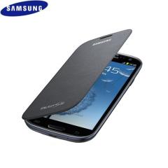 Genuine Samsung Galaxy S3 Flip Cover - Titanium Silver